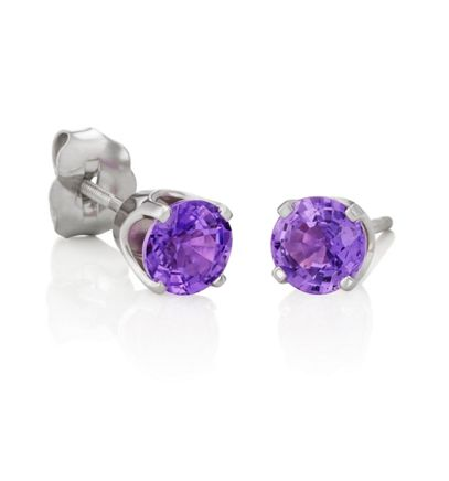 Round Lavender Sapphires in White Gold image