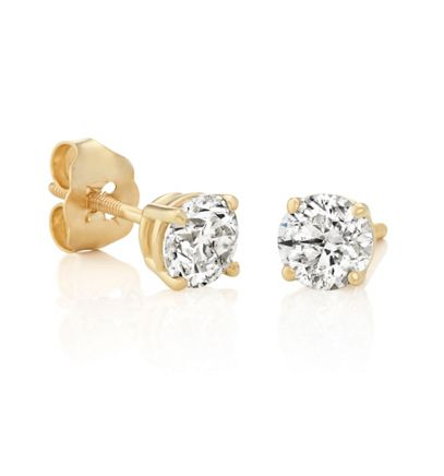 Round Diamonds In Yellow Gold Image