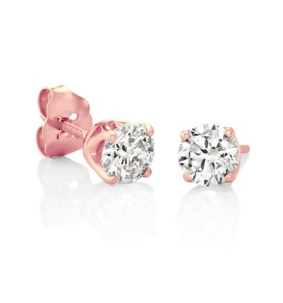 Round Diamonds in Rose Gold image