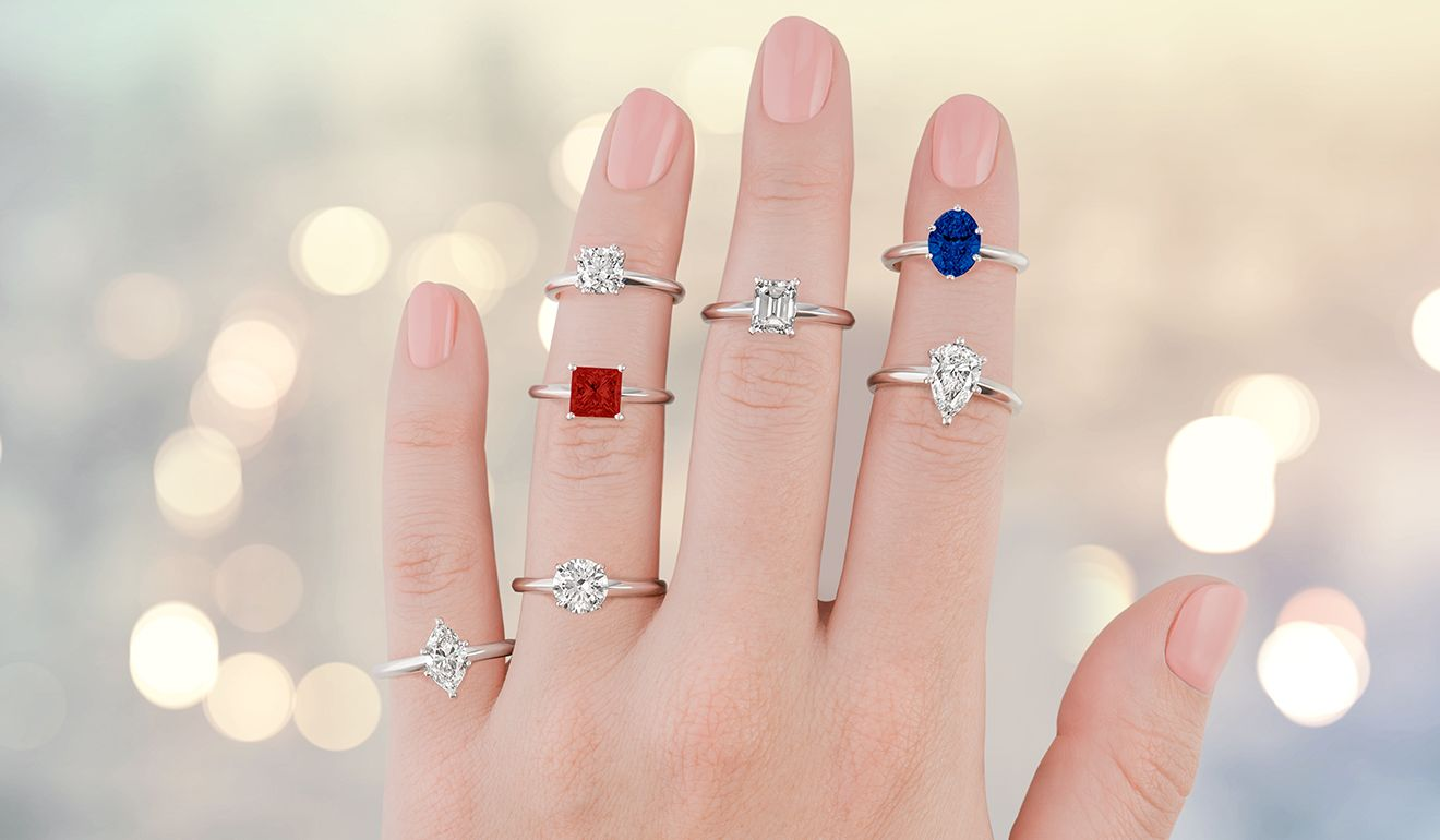 choose your gemstone - Wedding Band Engagement Ring