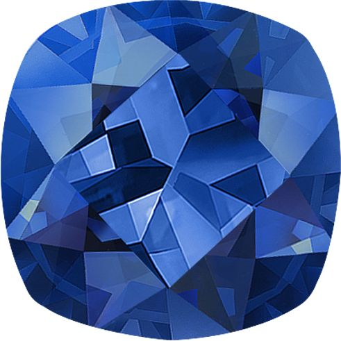 Square Cushion Cut Traditional Blue Sapphire