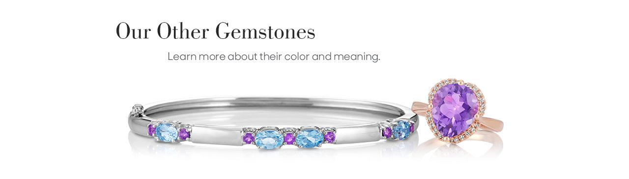 A gemstone bracelet and fashion ring