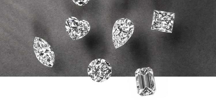 Collection of Six Diamonds in Different Shapes