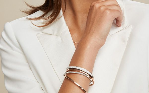 Mobile Image of Woman Wearing Bangle Bracelets
