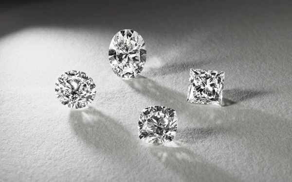 Four Loose Diamonds in Different Shapes