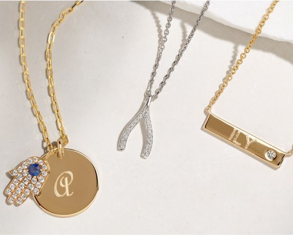 Mobile Image of a collection of personalized jewelry
