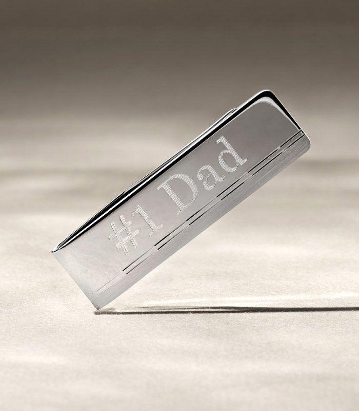 Money Clip with #1 Dad Engraved