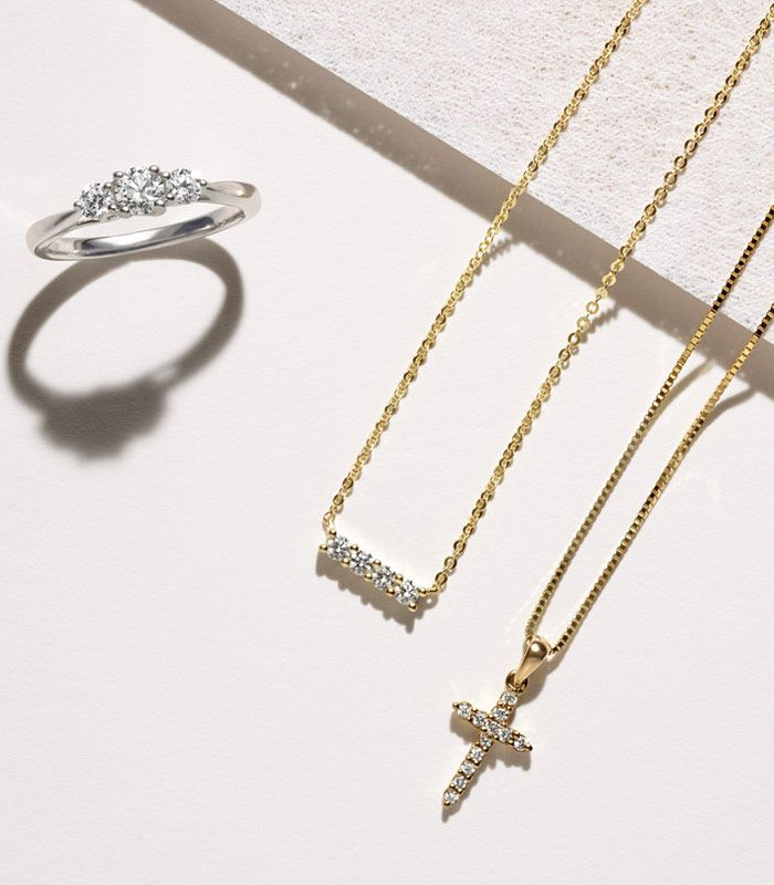 Diamond Ring, Cross Necklace and Pendant Graduation Gifts