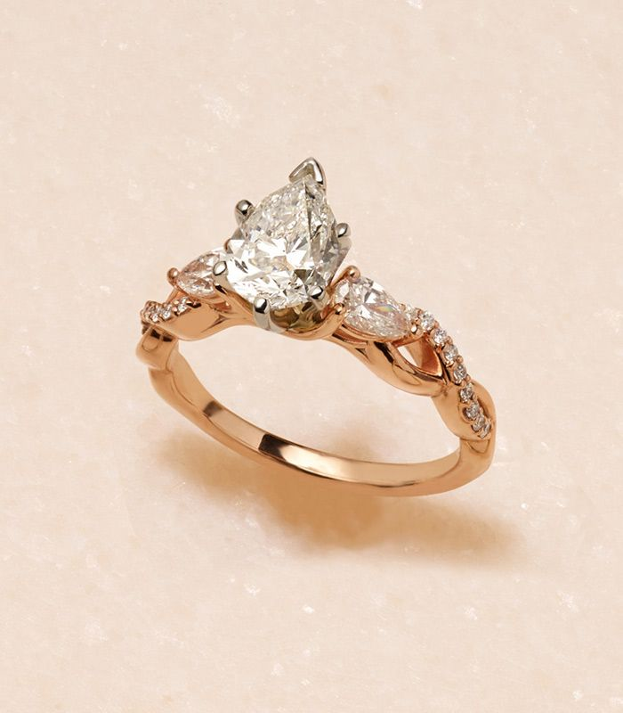 A Yellow Gold Infinity Engagement Ring