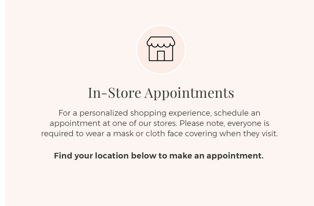 Desktop Image for Booking an In-Store Appointment