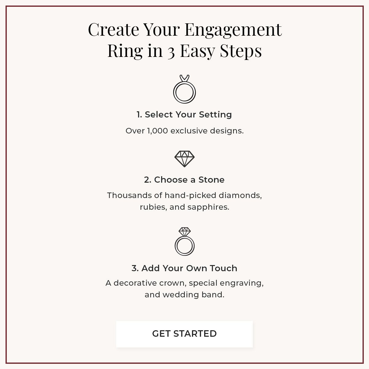 Mobile Image for Creating your dream ring in 3 easy steps