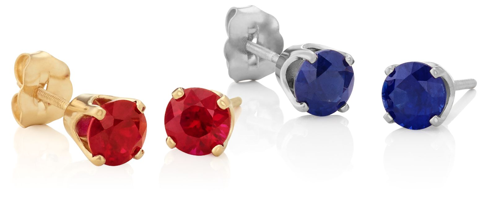 Ruby & Sapphire Studs 101