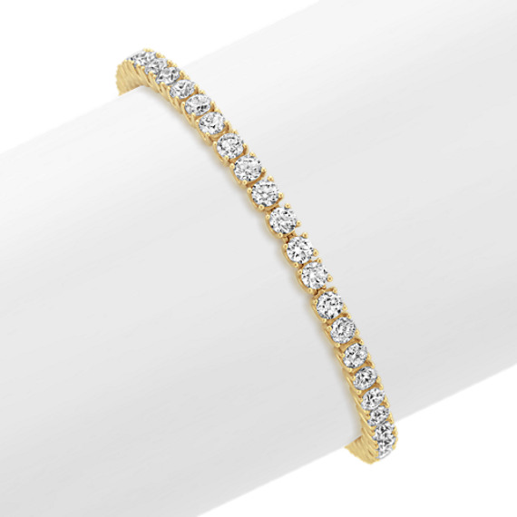 Diamond Tennis Bracelet in 14k Yellow Gold (7