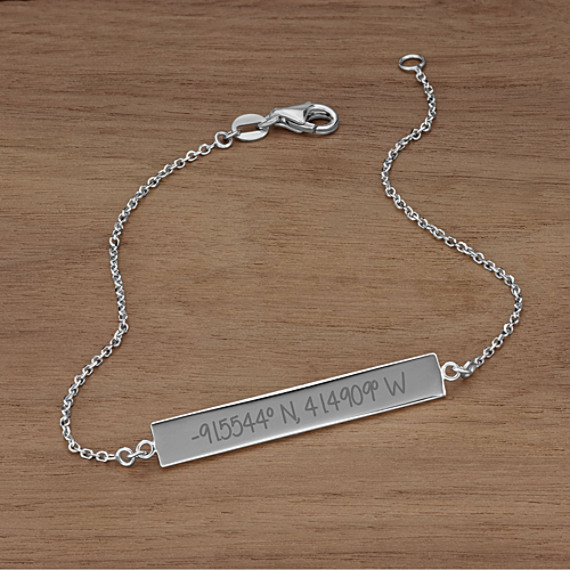 14k White Gold Bar Bracelet (7.5 in)