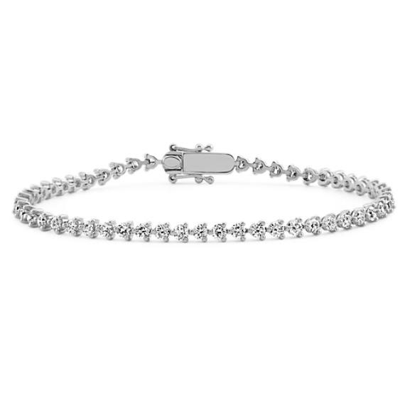 14k White Gold Diamond Tennis Bracelet (7 in)
