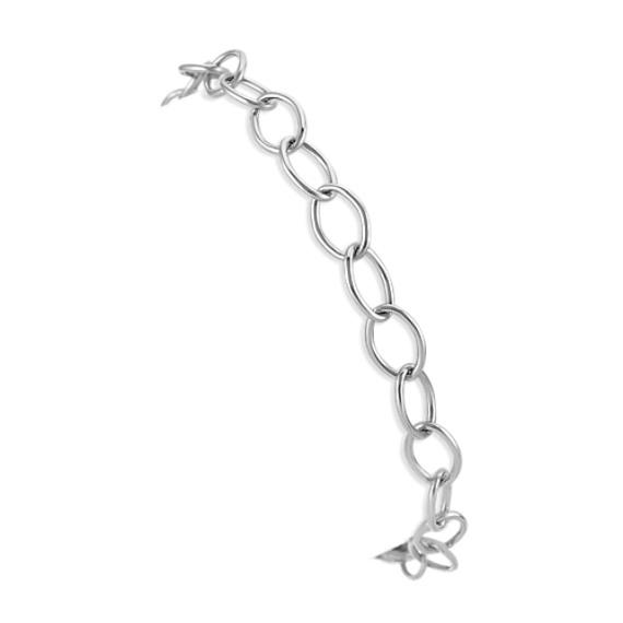 14k White Gold Infinity Charm Bracelet (7.25 in)
