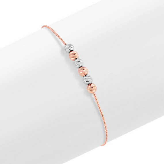 14k White and Rose Gold Lariat Bracelet (9.5 in.)
