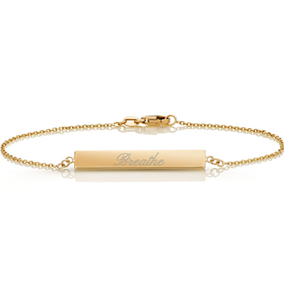 14k Yellow Gold Bar Bracelet (7.5 in)