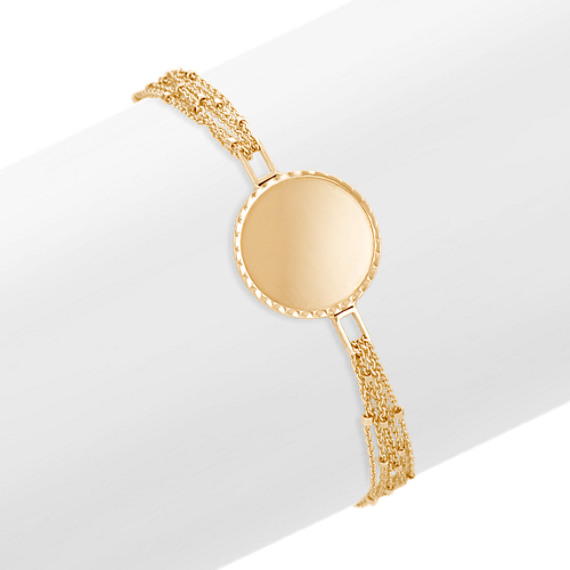 14k Yellow Gold Capri Bracelet (7.5 in)