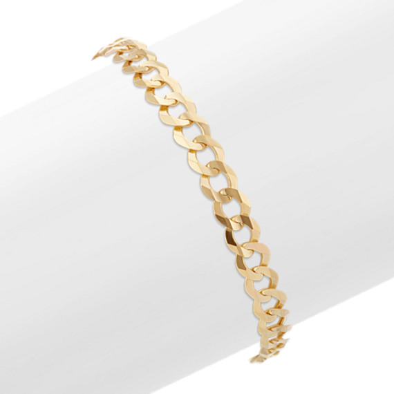 14k Yellow Gold Curb Bracelet (9 in)