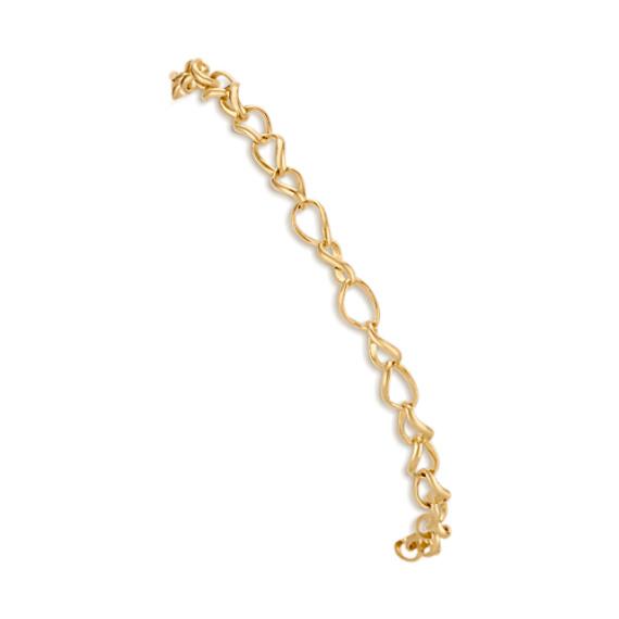 14k Yellow Gold Twist Link Charm Bracelet (7.25 in)