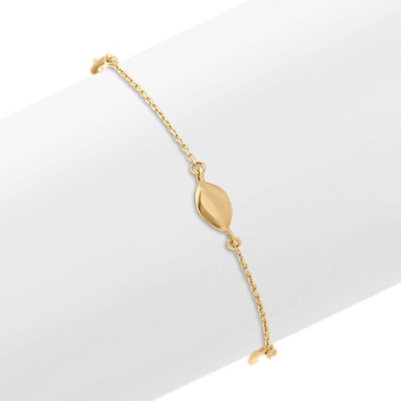 14k Yellow Gold Twisted Station Bracelet (7.5 in.)