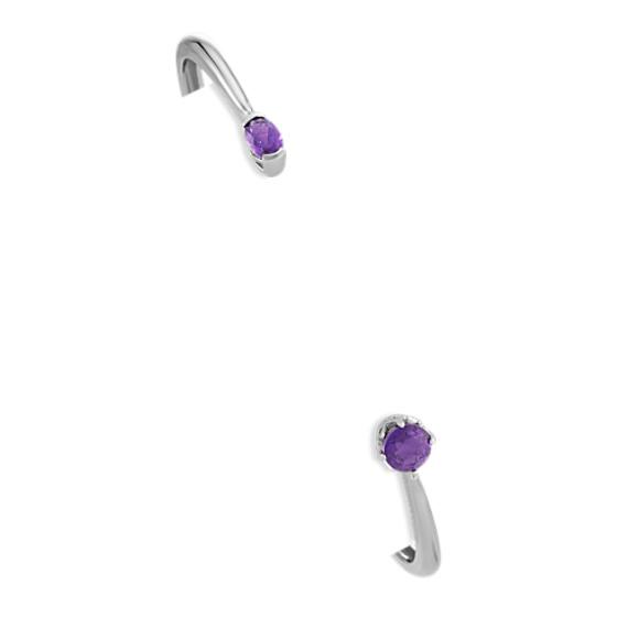 Amethyst Cuff Bracelet in Sterling Silver