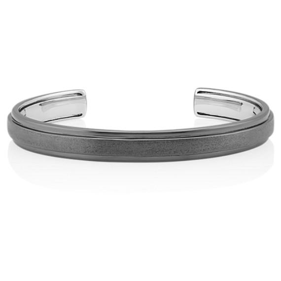 39104ad6d70 Black Cuff Bracelet in Sterling Silver (7.5 In) | Shane Co.