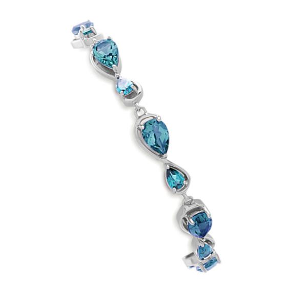 Blue Topaz and London Blue Topaz Bracelet (7 in)