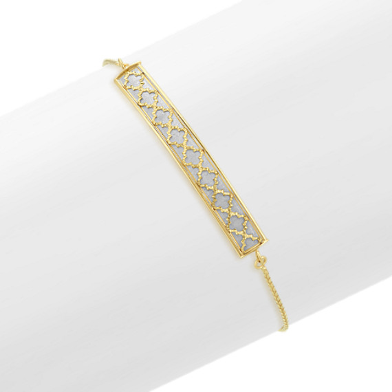 Bolo Bracelet in 14k White and Yellow Gold (8 in)