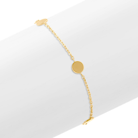 Circle Station Bracelet in 14k Yellow Gold