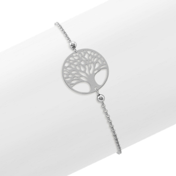 Circle Tree of Life Bracelet in Sterling Silver (7 in)
