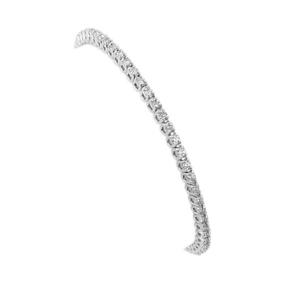 Classic Diamond Tennis Bracelet in 14k White Gold (7 in)