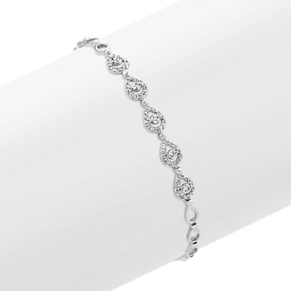 Diamond Bracelet in 14k White Gold (7 in)
