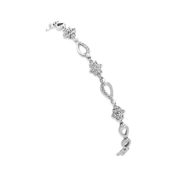 Diamond Bracelet in 14k White Gold (7 in)