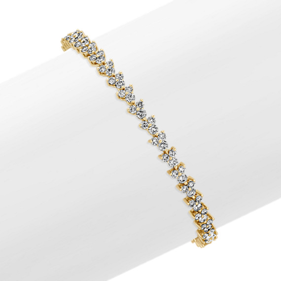 Diamond Bracelet in 14k Yellow Gold (7 in)