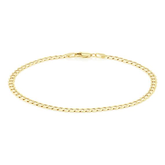 8.5 in Mens Diamond Cut Curb Bracelet