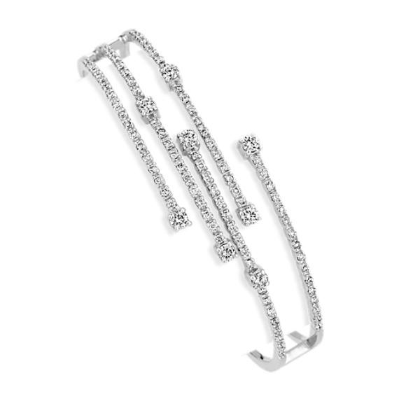 Diamond Fireworks Bangle Bracelet (7 in)