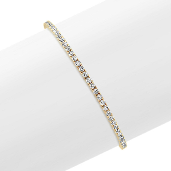 Diamond Lined Bracelet in 14k Yellow Gold (7 in)