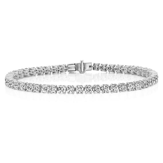 Diamond Tennis Bracelet in 14k White Gold (7 in)