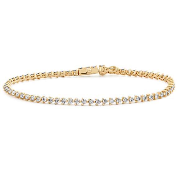 Diamond Tennis Bracelet in 14k Yellow Gold (7.5 in)