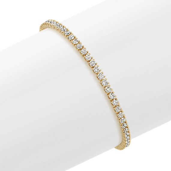 Diamond Tennis Bracelet In 14k Yellow Gold 8