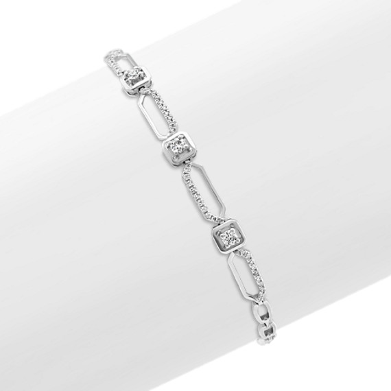 Geometric Diamond Bracelet (7 in)