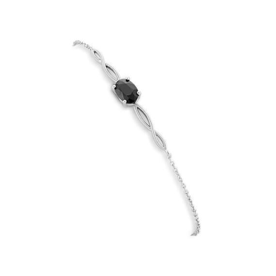 Infinity Black Sapphire Bracelet (8 in)