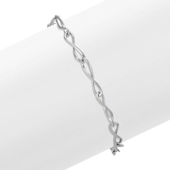Infinity Link Fashion Bracelet (7.5 in)