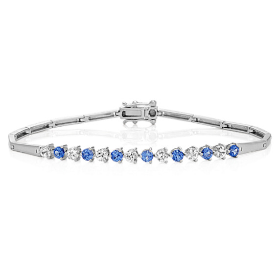 d9c9d96811260 Kentucky Blue and White Sapphire Bracelet (7 in.)