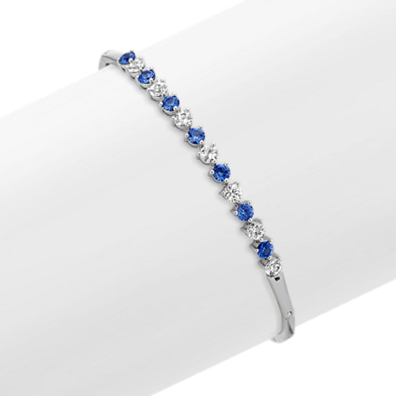 Kentucky Blue and White Sapphire Bracelet (7 in.)