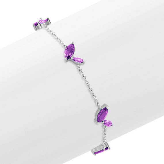 Marquise Purple Amethyst Bracelet (7.5 in.)