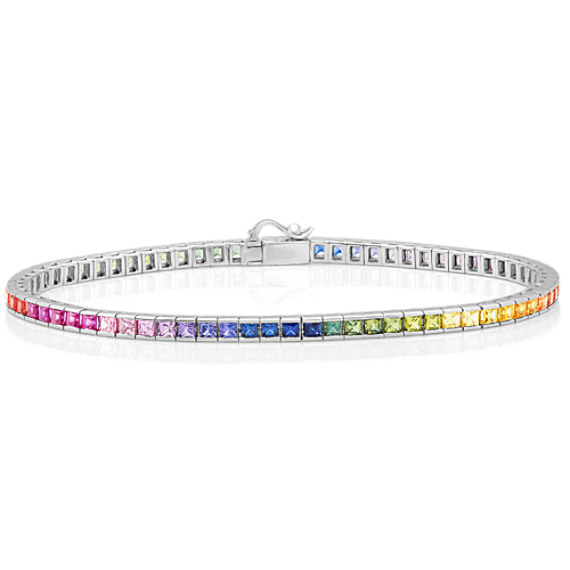 Multi-Colored Sapphire Bracelet (7 in) image