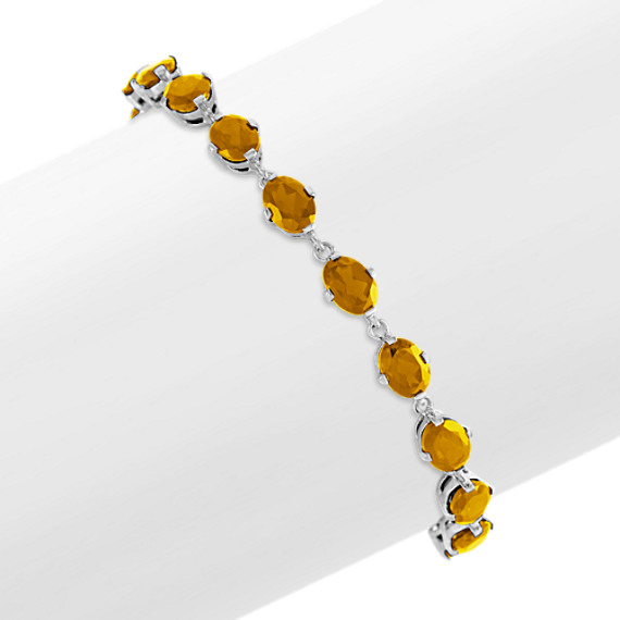 Oval Citrine Bracelet in Sterling Silver (7.5 in)
